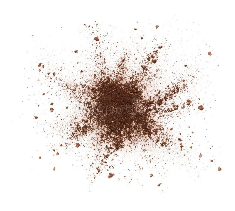 Разрушенный порошок кофе стоковая фотография
