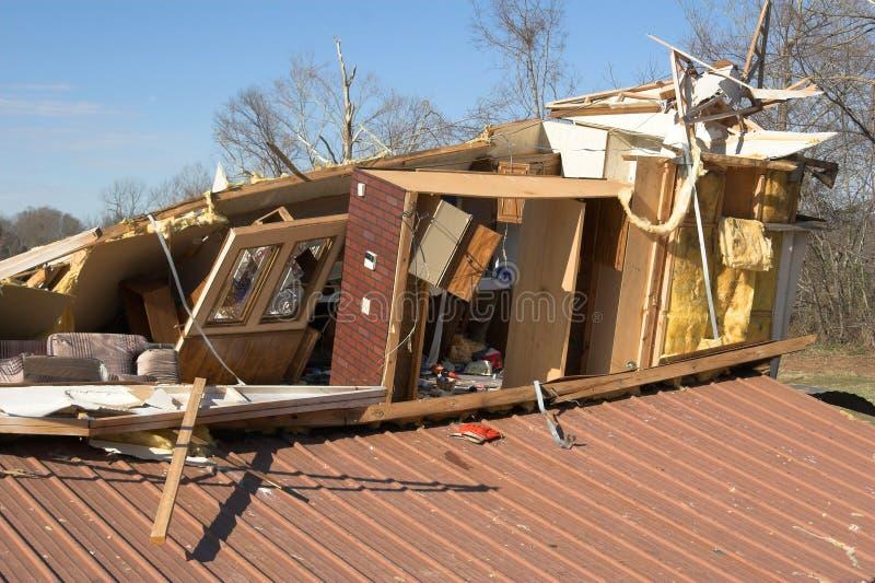 разрушено домой стоковая фотография rf