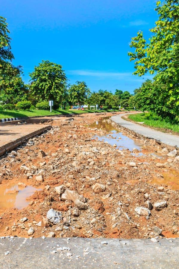 Разрушительная дорога стоковое изображение rf