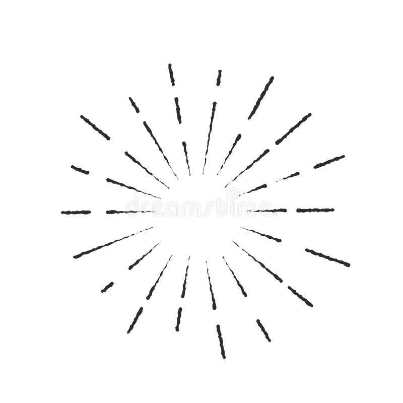 Разрывать светлый значок импульса иллюстрация вектора