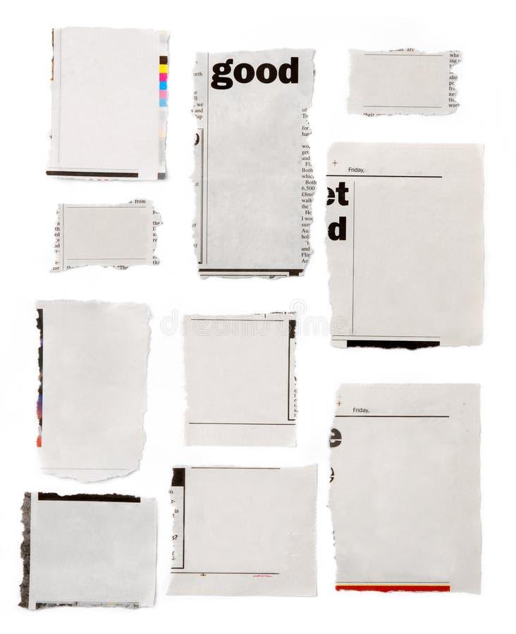 разрывы газеты стоковое фото rf