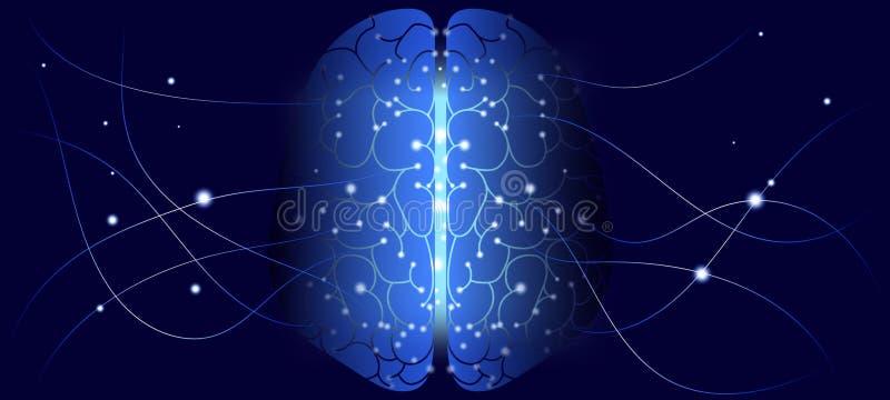 Разум кибер, дизайн искусственного интеллекта бесплатная иллюстрация