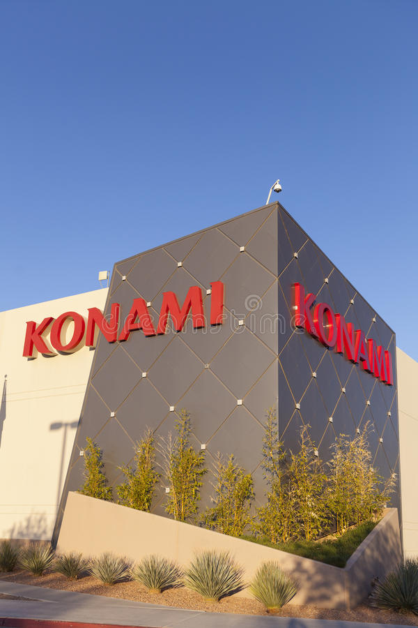 Разыгрыш Konami размещает штаб в Лас-Вегас, NV 19-ого апреля 2013 стоковое фото rf