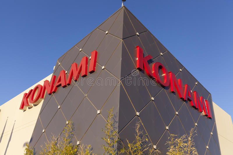 Разыгрыш Konami размещает штаб в рае, NV 19-ого апреля 2013 стоковая фотография