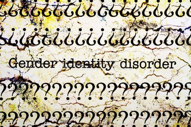 Разлад идентичности рода стоковое фото