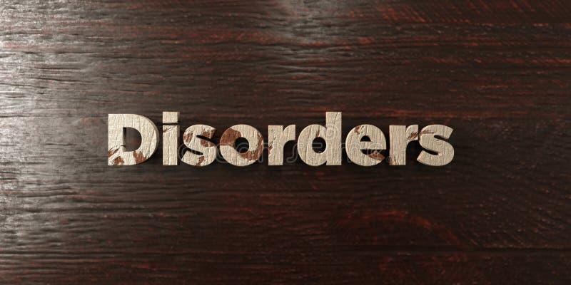 Разлады - grungy деревянный заголовок на клене - представленное 3D изображение неизрасходованного запаса королевской власти бесплатная иллюстрация