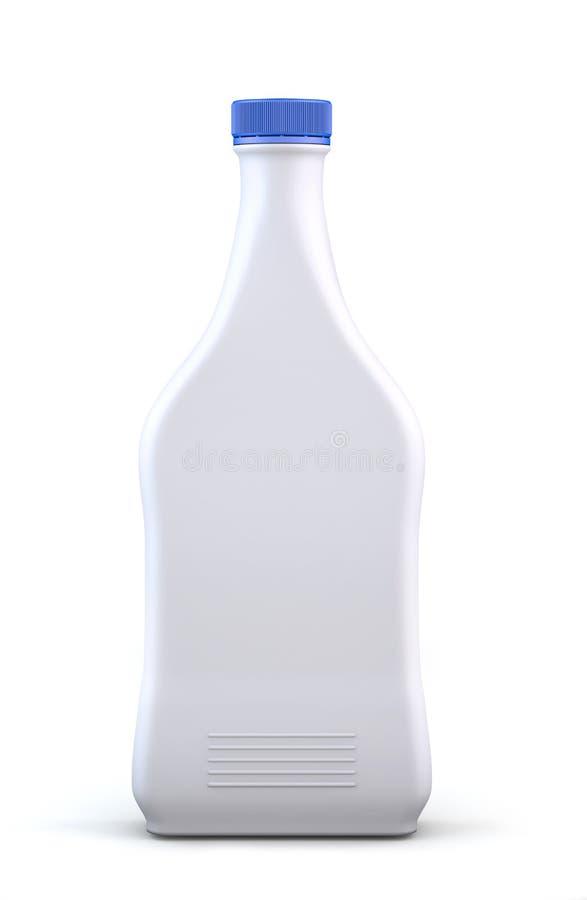 разлейте пластичную белизну по бутылкам стоковое фото rf