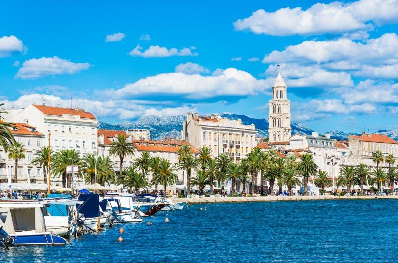 Разделенный панорамный взгляд, Хорватия стоковое изображение