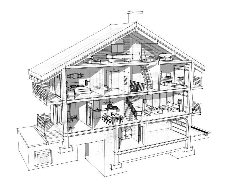 стоимость картинка трех этажного дома срисовать с комнатами для