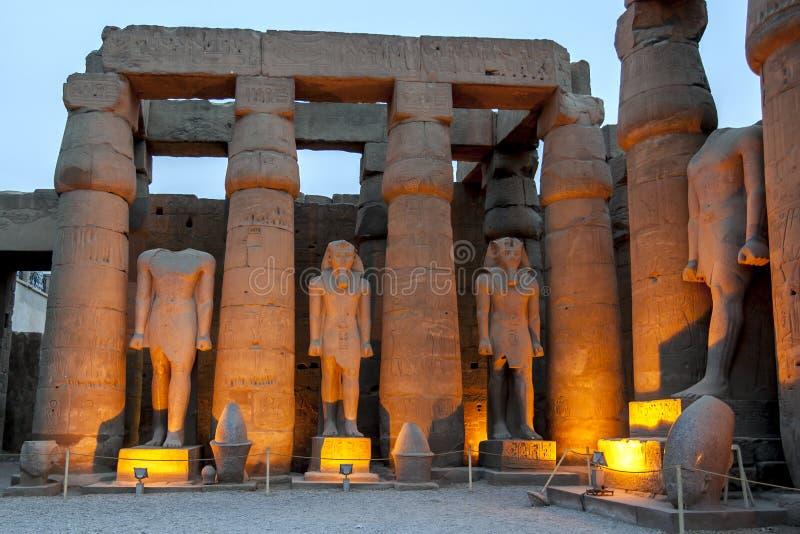 Раздел Luxor Temple в Египте стоковая фотография rf