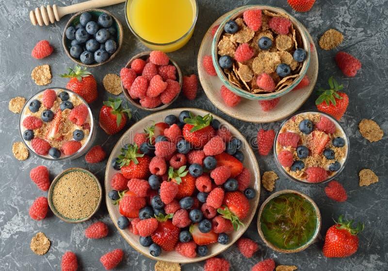Различная здоровая еда стоковое фото rf
