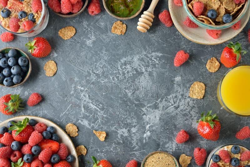 Различная здоровая еда стоковые изображения rf