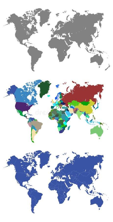 различная иллюстрация глобуса составляет карту мир вектора части иллюстрация вектора