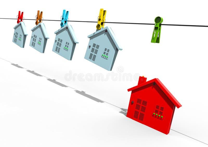 различная дом иллюстрация штока