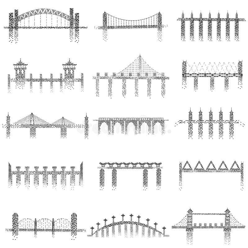 Различная структура моста иллюстрация вектора