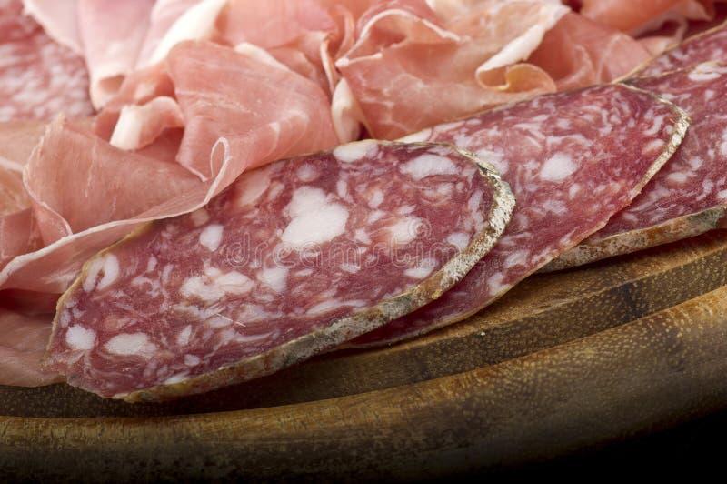 Различное итальянское салями стоковая фотография rf