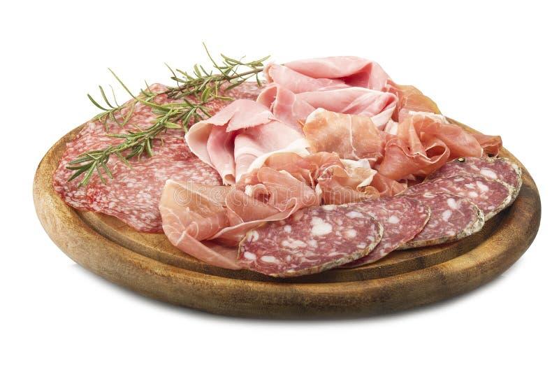 Различное итальянское салями стоковая фотография