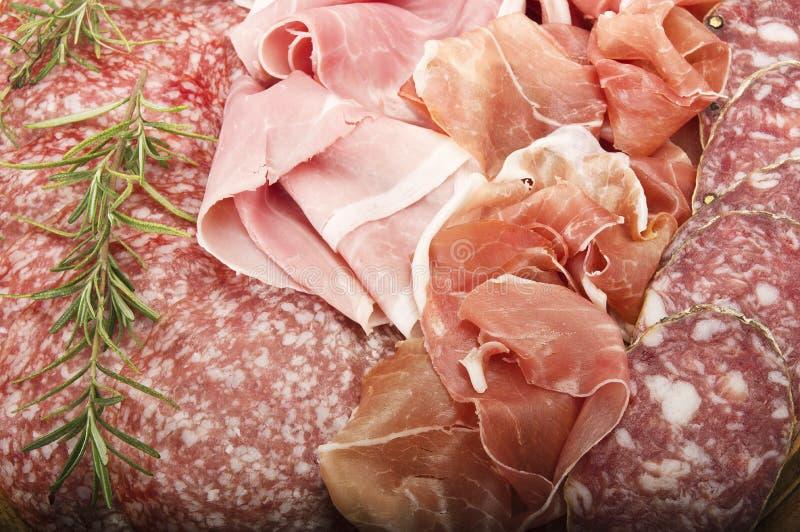 Различное итальянское салями стоковое фото