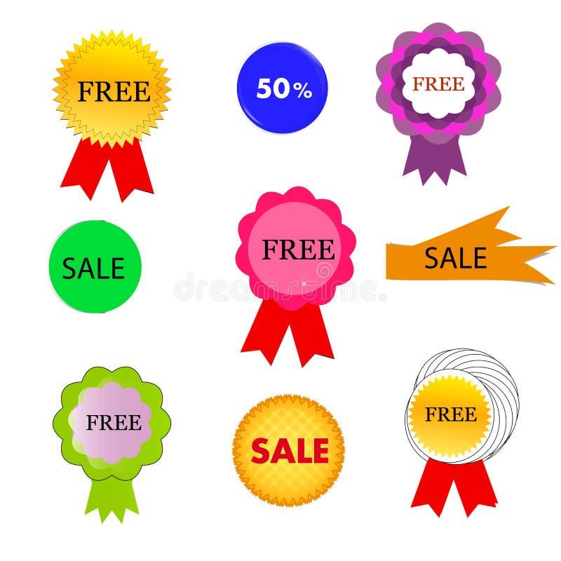 Различные бирки /icons продаж стоковая фотография