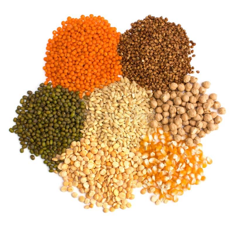 различные виды зерна стоковые фотографии rf