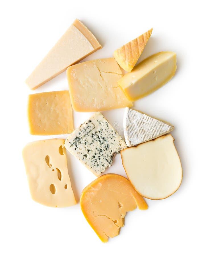 Различные виды сыров стоковая фотография