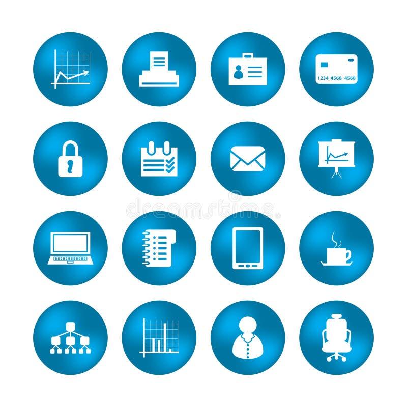 Различные значки офиса Стоковое Изображение RF