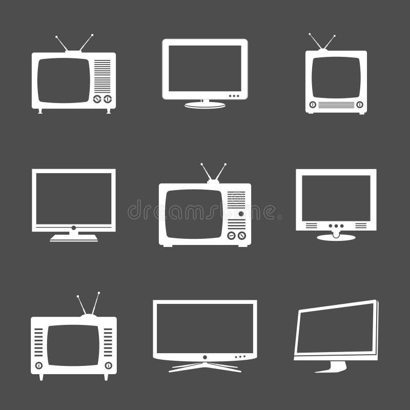 Различные значки ТВ иллюстрация штока