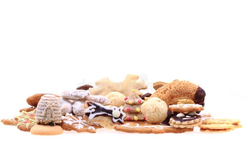 Различные изолированные печенья рождества стоковые изображения
