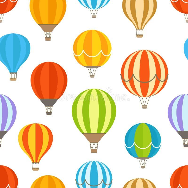 Различные красочные воздушные шары иллюстрация штока