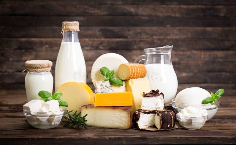 Различные молочные продучты стоковые фото