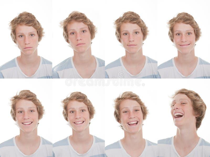 Различные настроения и выражения стоковые изображения rf