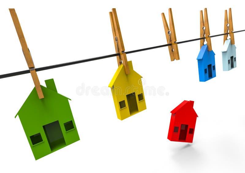 различные дома иллюстрация штока