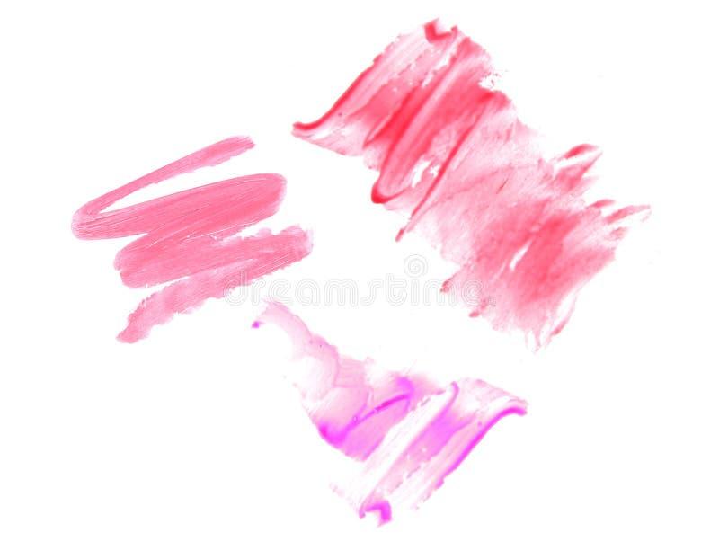 Различные лоски губы изолированные на белизне стоковое изображение rf