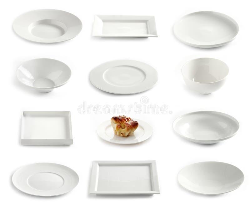 Различные пустые плиты стоковые фотографии rf