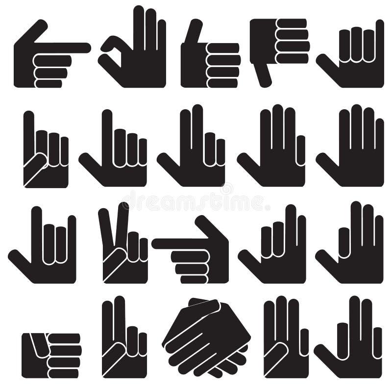 различные руки иллюстрация штока