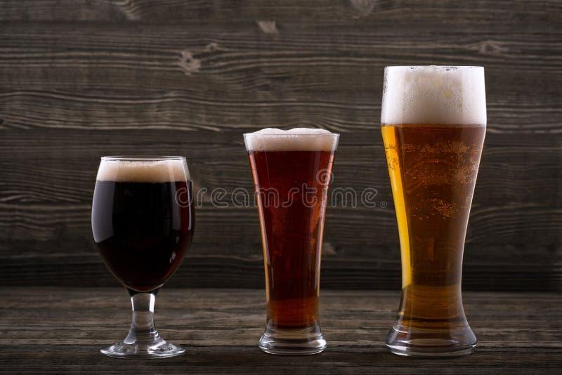 Различные типы пива стоковая фотография rf