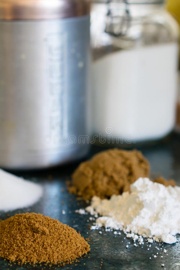 Различные типы сахаров стоковые фото