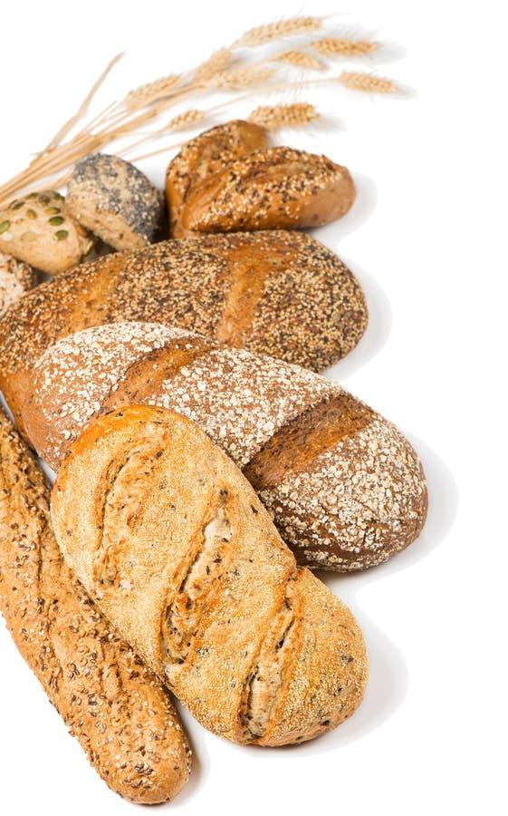 Различные типы хлеба хлопьев стоковое изображение rf