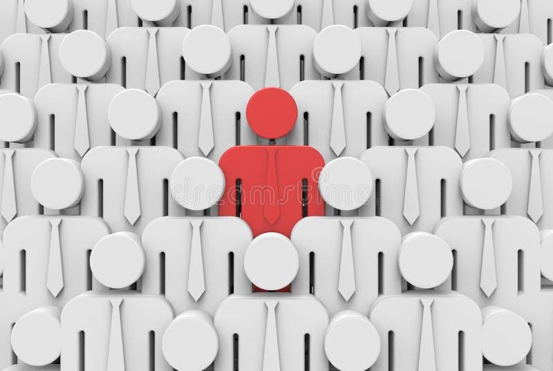 Различный - стоящ вне от толпы бесплатная иллюстрация