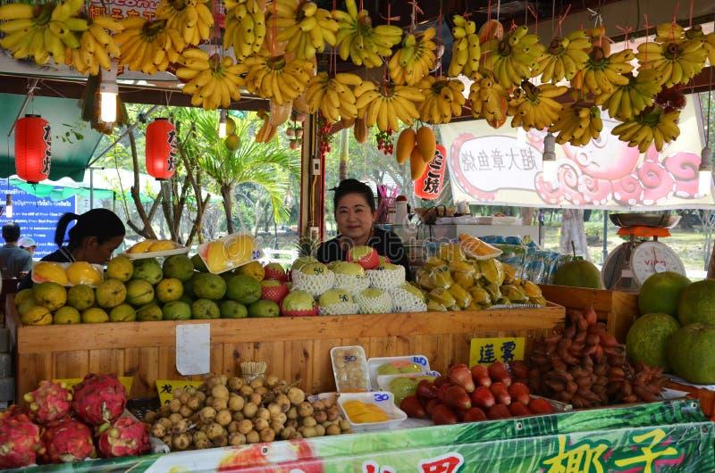 Различный тип плодоовощей в рынке в Паттайя стоковая фотография
