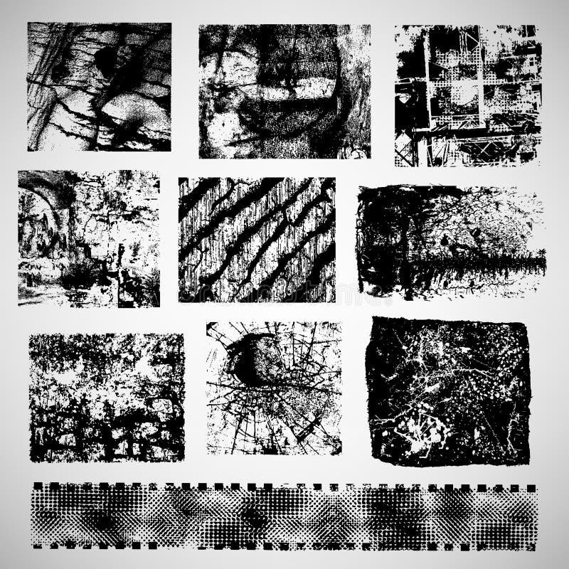 Различный grunge обрамляет вектор бесплатная иллюстрация