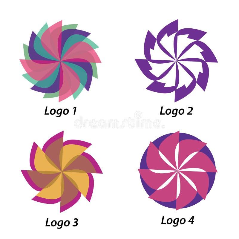 4 различных логотипа в формах бесплатная иллюстрация