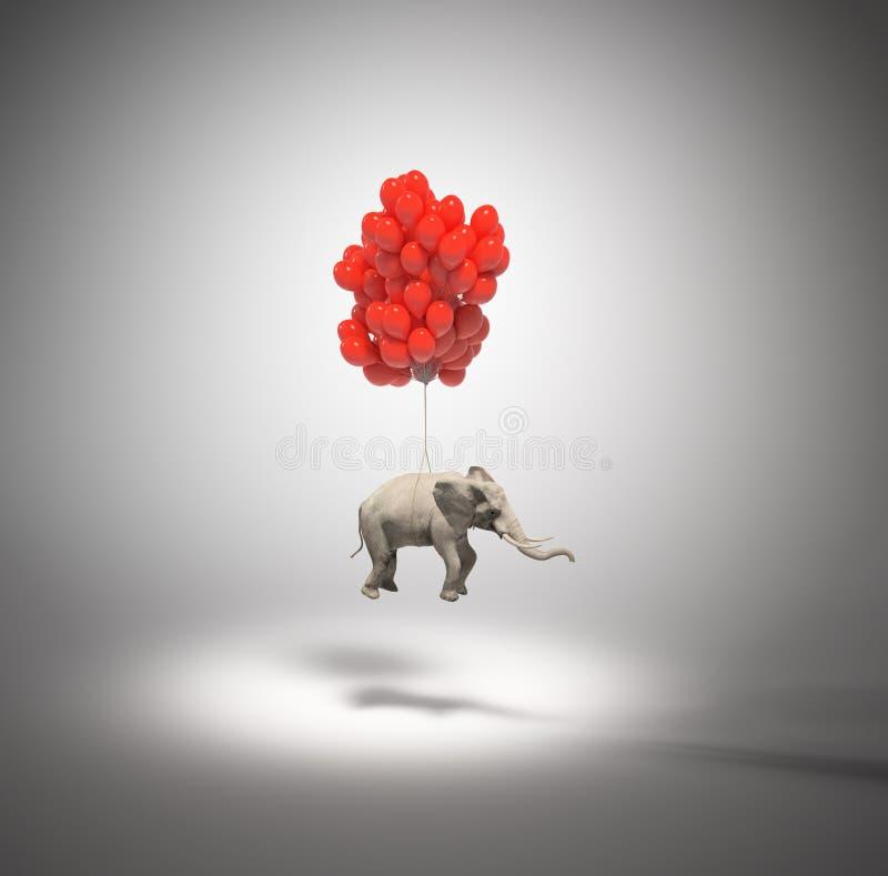 раздувает слон бесплатная иллюстрация