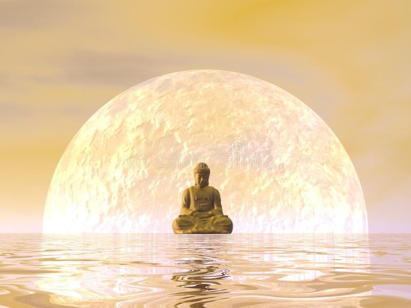 Раздумье Будды - 3D представляют бесплатная иллюстрация