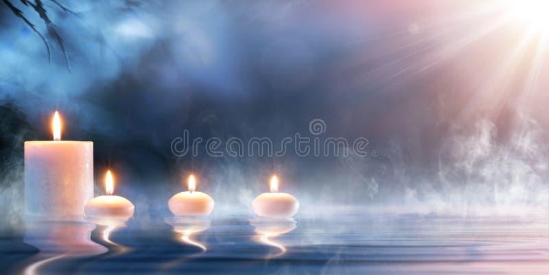 Раздумье в духовном пейзаже Дзэн стоковая фотография