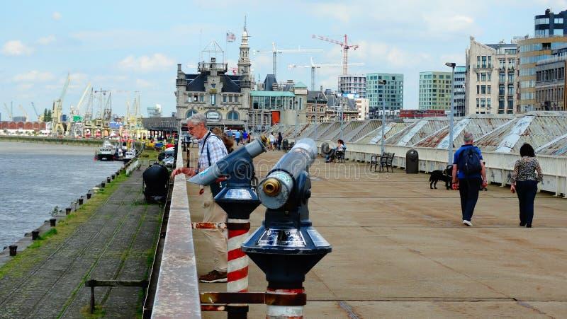 Районы доков Antwerpen (Бельгия) стоковые изображения rf