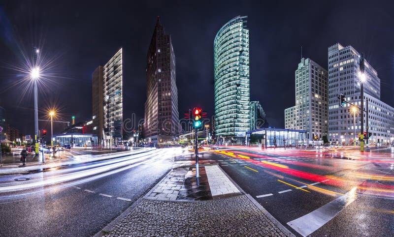 Район Берлина финансовый стоковые изображения