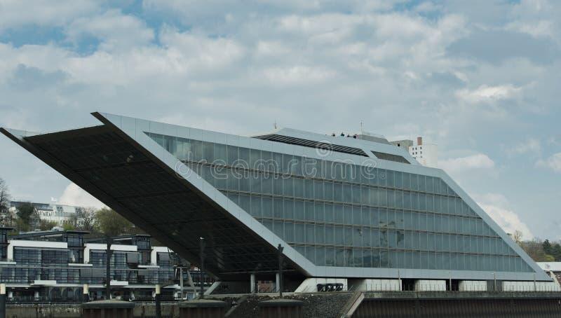 Район доков и гавань в гавани Гамбурга - Гамбурга стоковое фото