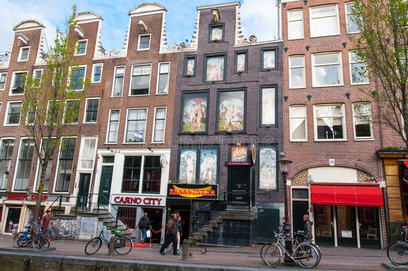 Район красного света, туристы идет sightseeing, Нидерланды стоковое изображение rf