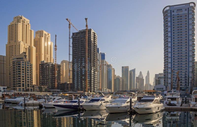 Район Марины в Дубай стоковые изображения rf